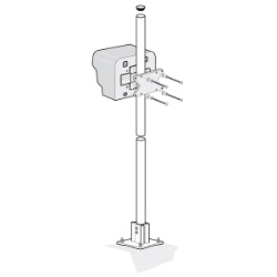 SC 100 Mounting hardware, pole with protection hood